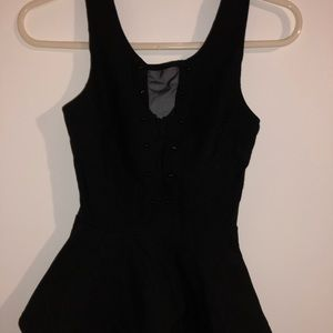 black fitted charlotte russe top